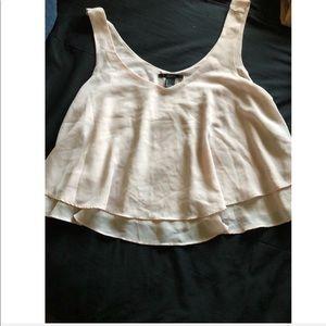 Pink blouse crop top